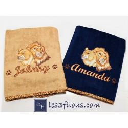 Drap de bain Lions DRA-105