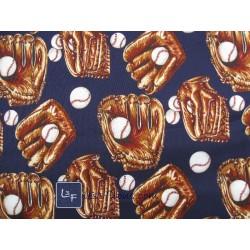 Baseball Bleu Tissu TIS-005